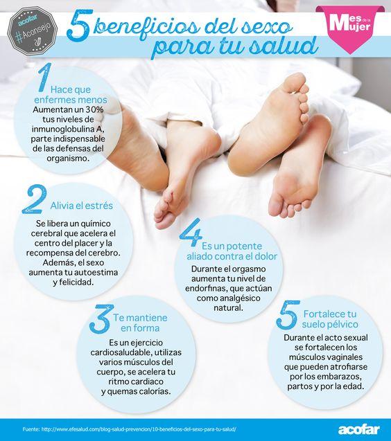 5 beneficios del sexo para tu salud. #Aconsejo