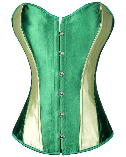Amazon.com: Pandolah Women's Boned Overbust Corset Bustier Lingerie: Clothing Anna costume $17 plus green skirt and white peasant top