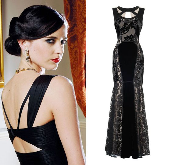 bond girl vesper lynd played by eva green in casino royale get the look with the dulciana dress. Black Bedroom Furniture Sets. Home Design Ideas