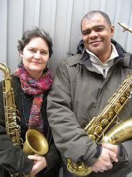 Jessica Jones & Tony Jones - a great tenor-playing couple. Tony is truly one of the greats of his generation.
