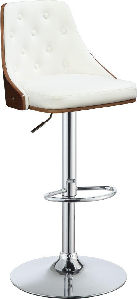 Talman White Adjustable Barstool Bar Stools Adjustable Bar Stools Adjustable Stool