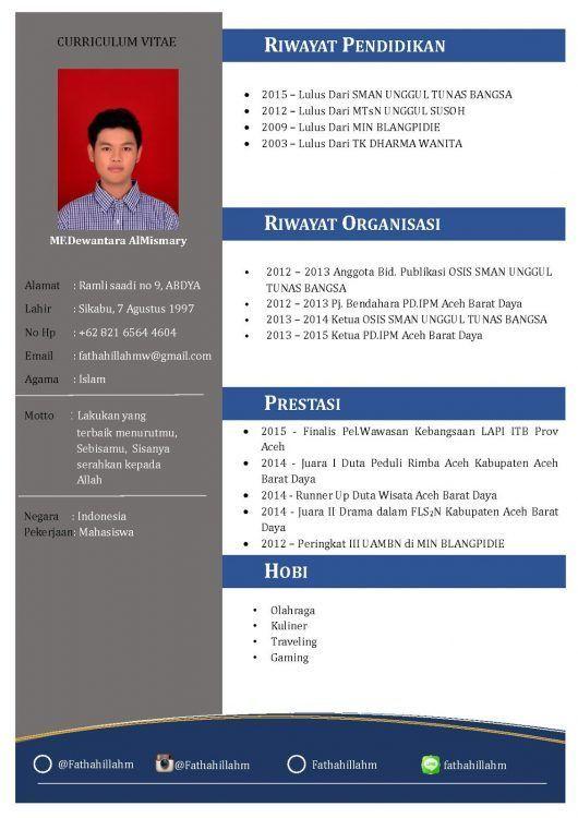 Contoh Cv Fresh Graduate Yang Menarik Cv Design Resume