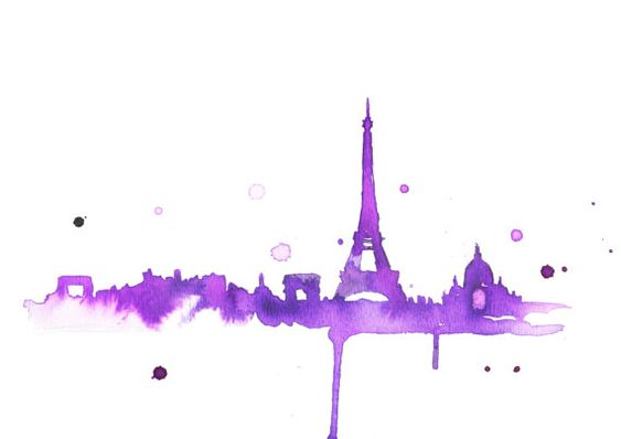 Watercolor Travel Illustration  A Purple by JessicaIllustration, $25.00