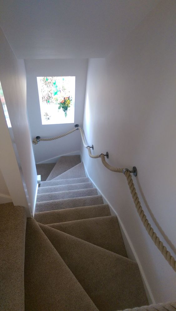 Best 7 X British Blacksmith Stairs Rope Banister Handrail 400 x 300