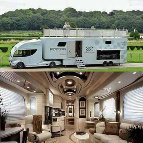luxury rv luxurious and beautiful toys pinterest verandas luxus wohnmobil und wohnmobil. Black Bedroom Furniture Sets. Home Design Ideas