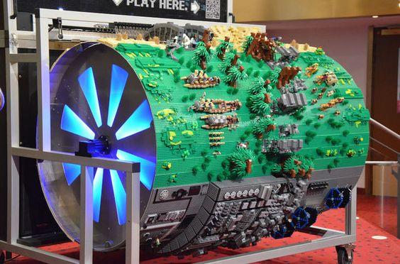 Lego organ barrel plays Star Wars theme: Organ Barrel, Lego Star Wars, Lego Organ, Wars Lego, Wars Theme, Lego Brick, Lego Builder