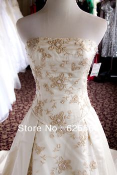 Gold Wedding Gowns | Collection #9101 2 pc ivory/gold wedding gown-in Wedding Dresses ...