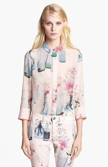 Ted Baker London 'Watercolor Bottles' Print Shirt available at #Nordstrom