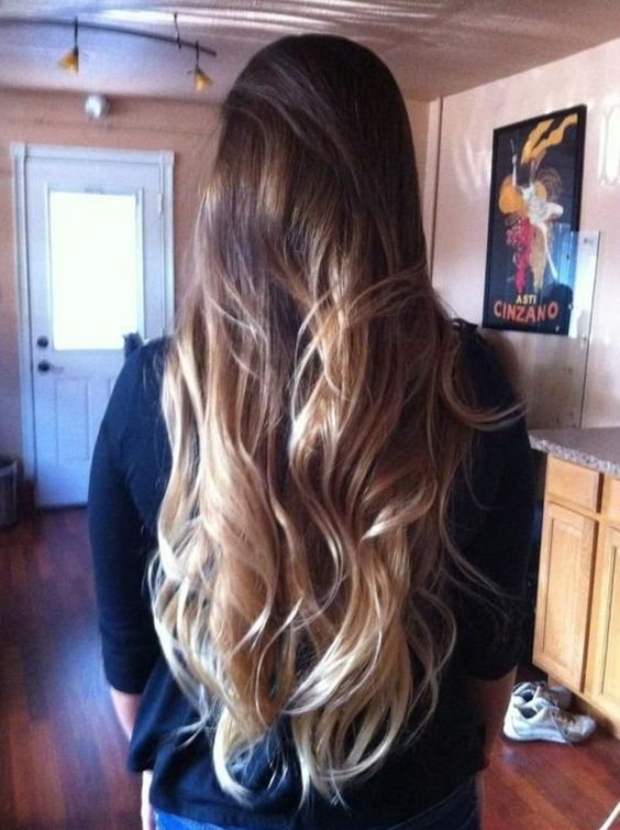 Long Ombre hair Yes, this is my hair. Get hair like this for summer