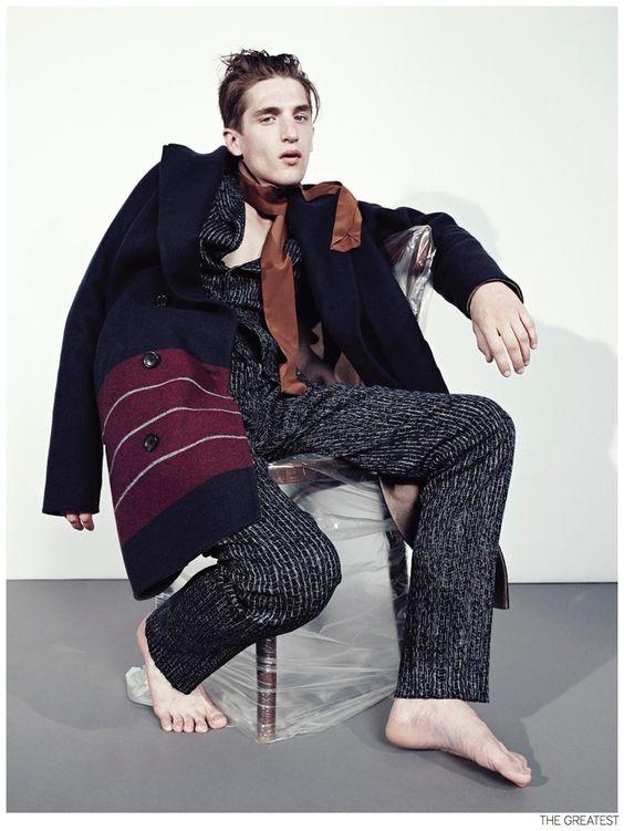 Anatol Modzelewski is Too Weird for Pinstripe + Stripe Fashion Editorial from The Greatest image Anatol Modzelewski The Greatest Fashion Editorial 004