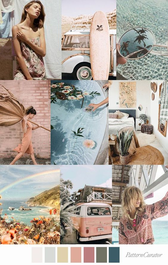 GYSPY OASIS by Pattern Curator (SS20)  #moodboard  #colorboard #colorinspiration #colorpsychology
