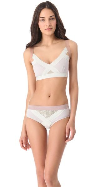 VPL Insertion Bra   SHOPBOP  Herve leger meets lingerie. New favorite lingerie line. Obsessed.