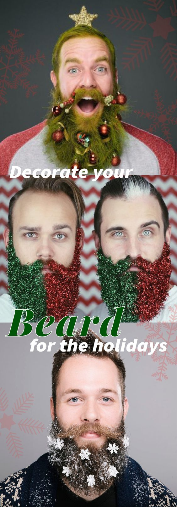 We're not kidding, we have found the how to of all how to's for men: Glitter Beards! Get festive for the holidays and check out the article here!