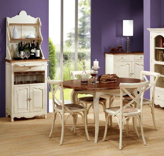 Ambiente de comedor avi n con alacena mesa redonda - Mesa de comedor redonda ...