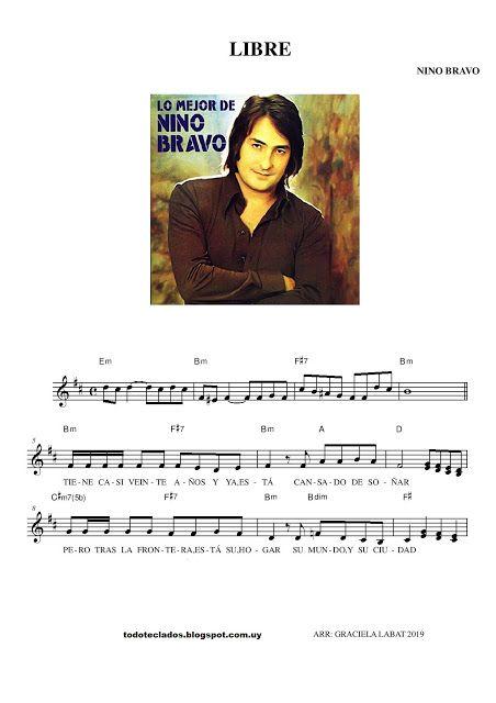 Libre Nino Bravo Partituras Andy Gibb Carole King