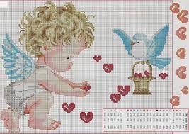 Resultado de imagen de colchal infantiles de punto de cruz