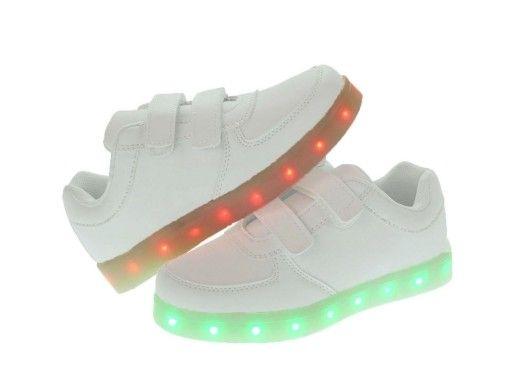 Dzieciece Buty Swiecace Led 7207 Biale 35 7247709045 Oficjalne Archiwum Allegro Shoes Sneakers Fashion