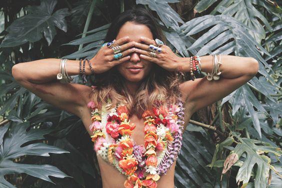 aloha hawaii beach girl