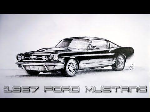 Realistik Araba Cizimi 1967 Ford Mustang Mustang Cizim Ford