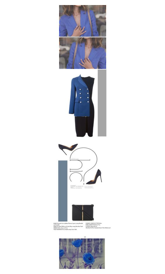"""""""Chic in blue"""" by violavintage ❤ liked on Polyvore featuring Gianvito Rossi, Nina Ricci, Ermanno Scervino, women's clothing, women, female, woman, misses and juniors"""