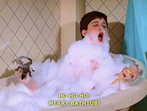 Image result for ho ho ho merry bathtub gif