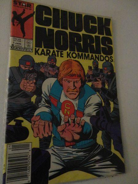 Vintage Star Comics Chuck Norris Karate Kommandos Marvel No 1 Vol 1 Jan 1987 find me at www.dandeepop.com