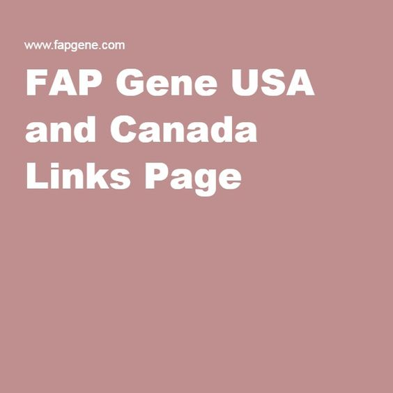 FAP Gene USA and Canada Links Page