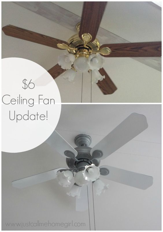 update a ceiling fan using spray paint. Black Bedroom Furniture Sets. Home Design Ideas
