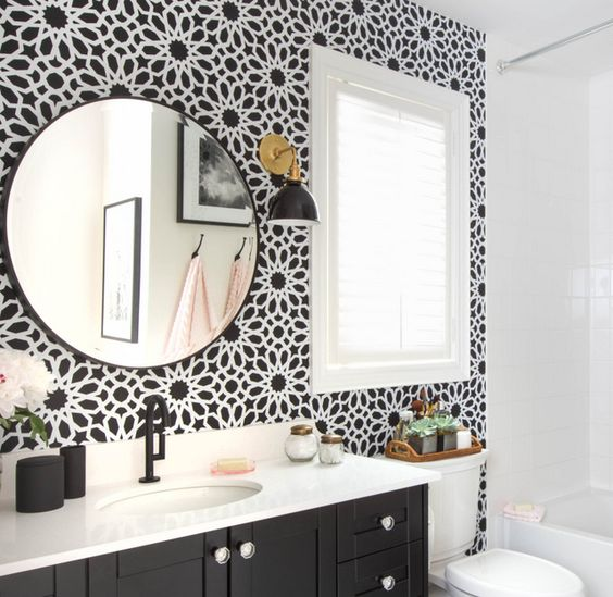 Wall ideas bathroom accent wall and accent walls on pinterest for Bathroom accent ideas