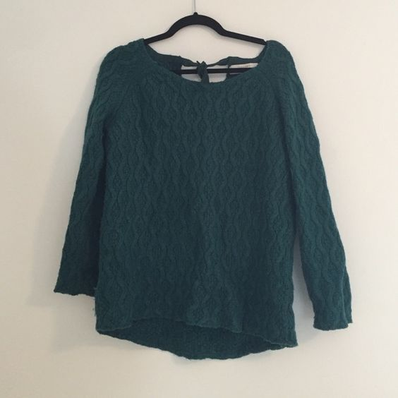 Zara sweater Large turquoise Zara sweater with tie in back. Barely worn! Zara Sweaters