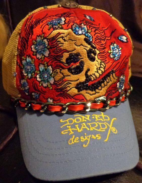 """""""Ed Hardy"""" hat i customized."""
