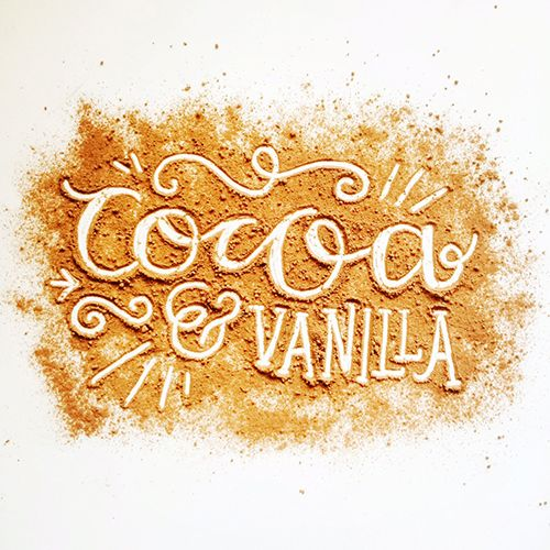 Cocoa & Vanilla Lettering by Steph Baxter