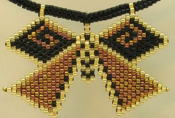 herringbone bead photo: Garnet Wings Pendant GarnteWingsPendant3.jpg:
