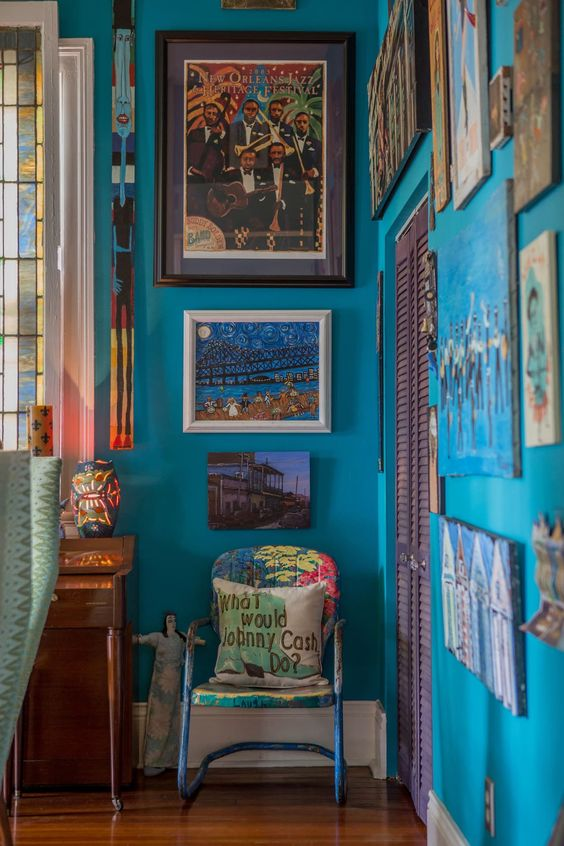 A Vibrant Colorful Art Filled New Orleans Home