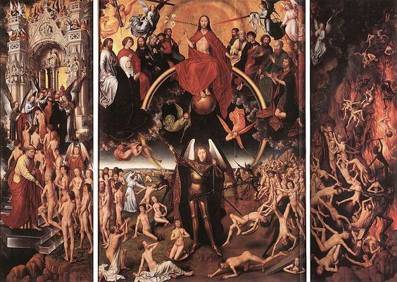 """""""The Last Judgment"""" by Hans Memling, 1467-1471"""
