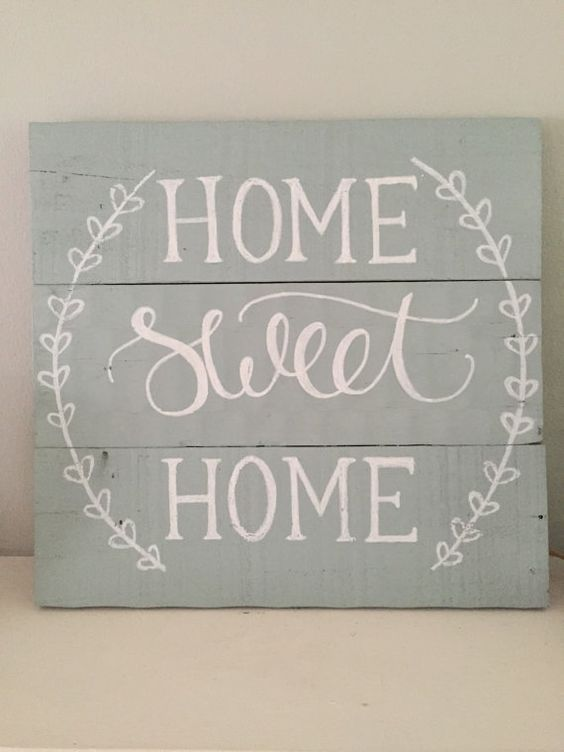 Home Sweet Home Sign ~ Reclaimed Wood Pallet Sign, Rustic Hand Painted Sign, Rustic Home Decor on Etsy, $30.00