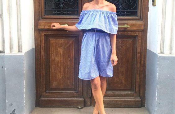 Patron de couture gratuit: robe aux épaules dénudées