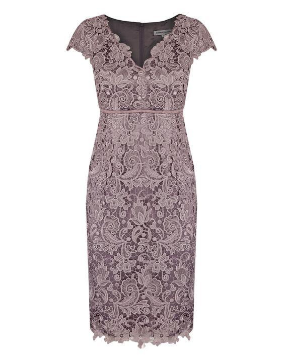 Blush Guipure Lace Dress: