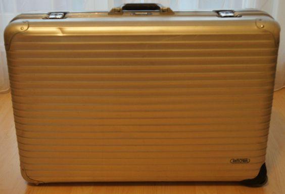 Rimowa Koffer Alu Silver Integral ca.77 x 20 x 50cm mit 2 Rollen u. Zwischenlage
