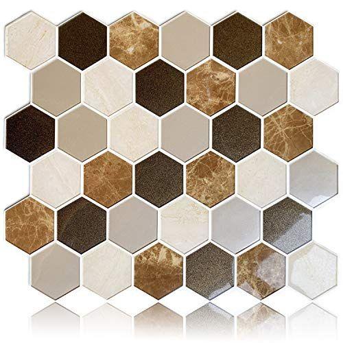 Homeymosaic Peel And Stick Backsplash Tile 3d Wall Silica Gel Vinyl Tiles For Home Decor Stick On Kitchen Bath In 2020 Vinyl Tiles House Tiles Peel N Stick Backsplash