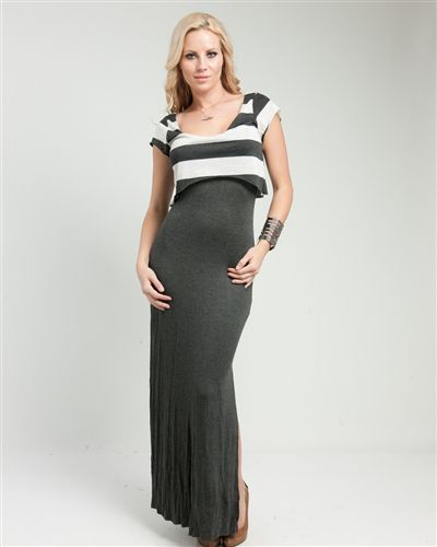 Grey Striped Maxi via Thorpe's Emporium. Click on the image to see more!
