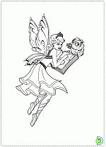 Barbie Mariposa and the Fairy Princess coloring pages , coloring Barbie Mariposa and the Fairy Princess- DinoKids.org