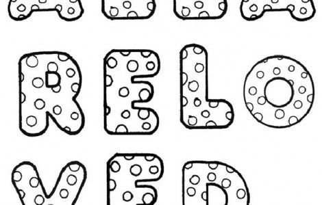 Printable Bubble Letter Coloring Pages