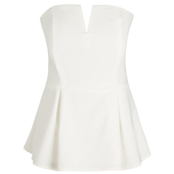 City Chic Deep V Corset ($69) ❤ liked on Polyvore featuring tops, peplum tops, sweetheart neck top, sweetheart peplum top, sweetheart corset top and corsette tops
