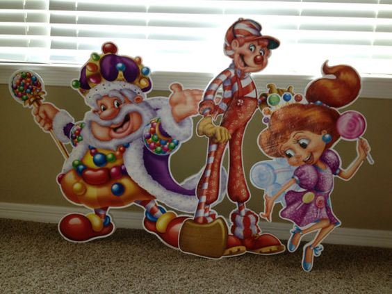 Candyland standees stand ups birthday party by DivineDecorations, $85.00