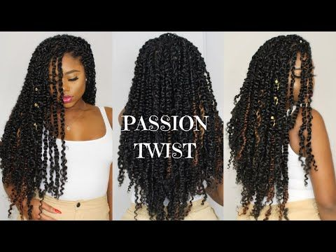 New Video Shows How To Achieve Great Protective Style By Doing Passion Twists Grea Crochet Hair Styles Freetress Crochet Hair Styles Crochet Braids Hairstyles