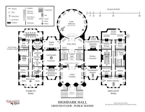 Highdark Hall A Setting For Gothic Roleplaying Mansion Floor Plan Castle Floor Plan House Floor Plans