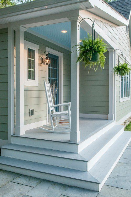 Simple Pleasures Of A Charming Front Porch Town Country Living Modern Design In 2020 Porch Design House With Porch Front Porch Design
