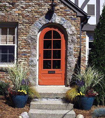 Burnt Orange Door Outside Split Home Updates Pinterest