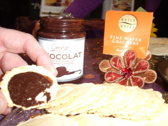 Wafers + Grashoff chocolate= afternoon treat www.fasofoods.com #sffs12